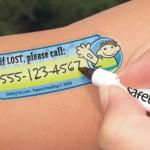 Tattoo infantil para identificar as crianças, para usar nas férias de fim de ano!